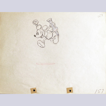 Original Walt Disney Production Drawing of Mickey Mouse from Mickey's Garden (1935)