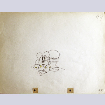 Original Walt Disney Production Drawing of Mickey Mouse from Mickey's Service Station (1935)