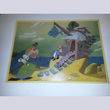Original Walt Disney Production Cel Setup from Alice in Wonderland Featuring The Walrus and The Carpenter