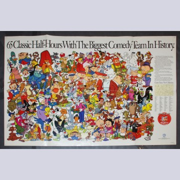 Warner Brothers One Sheet Movie Poster featuring Bugs Bunny and friends