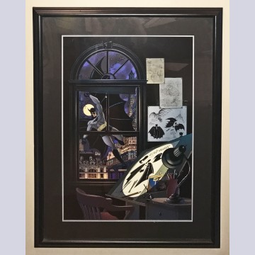 Original Warner Brothers Batman Limited Edition Lithograph, Batman: Bob Kane Tribute