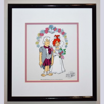 Original Hanna Barbera Limited Edition Sericel Pebble and Bam Bam's Wedding
