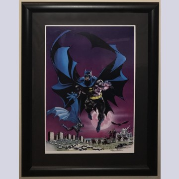 Original Warner Brothers Batman The Turning Point Series Limited Edition Lithograph, Batman: Circa 1970, by Neal Adams