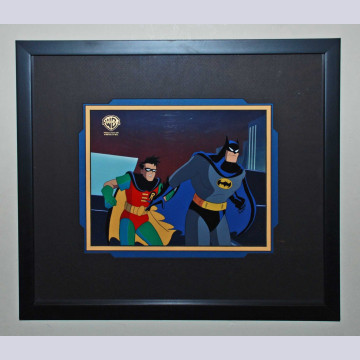 """Original WB Production Cel from The Animated Series The Adventures of Batman and Robin """"Showdown"""""""