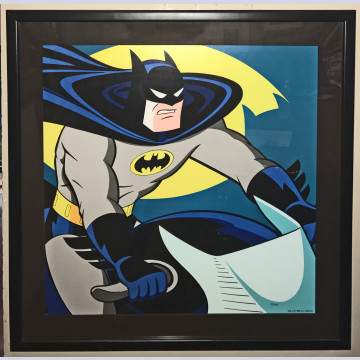 Original Warner Brothers Batman Limited Edition Lithograph, Batman on Batcycle