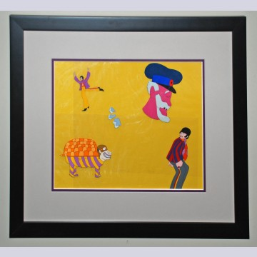 Original Beatles Production Cel From Yellow Submarine