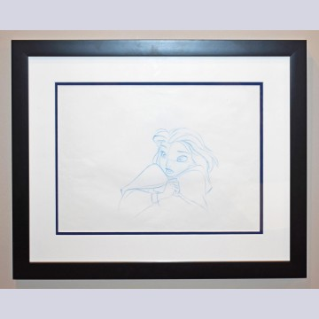 Original Walt Disney Production Drawing from Beauty and the Beast featuring Belle