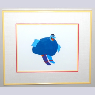 Original Beatles Production Cel From Yellow Submarine featuring Blue Meanie