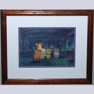 Original Hanna Barbera Production Cel Featuring Boo Boo, Signed by Bill Hanna