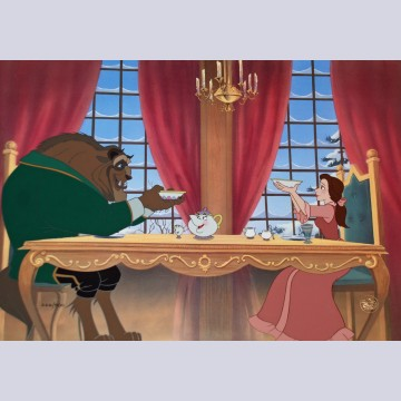 Walt Disney Beauty and the Beast Animation Limited Edition Cel, Breakfast for Two