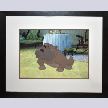 Original Walt Disney Production Cel from Lady and the Tramp featuring Bull