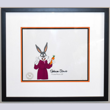 Original Warner Brothers Production Cel Featuring Bugs Bunny, Signed by Chuck Jones