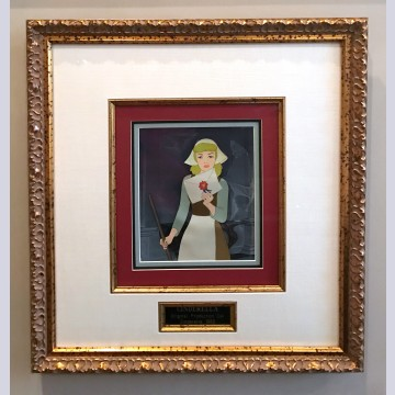 Original Walt Disney Production Cel Featuring Cinderella