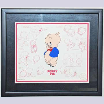 Model Series Limited Edition Cel by Bob Clampett featuring Porky Pig