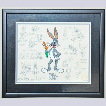 Model Series Limited Edition Cel by Bob Clampett featuring Bugs Bunny