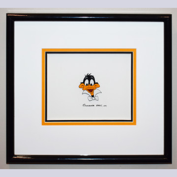 Original Warner Brothers Production Cel Featuring Daffy Duck