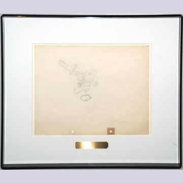 Original Walt Disney Production Drawing of Mickey Mouse from The Delivery Boy (1931)