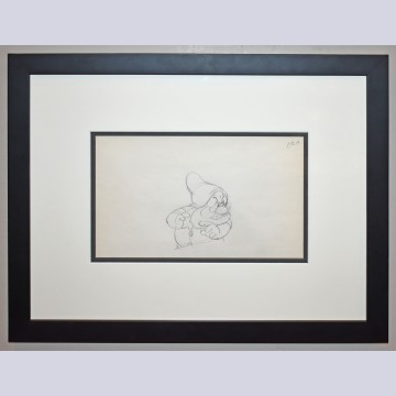 Original Walt Disney Production Drawing Featuring Doc