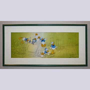 Original Walt Disney 5 Production Cels featuring Donald Duck