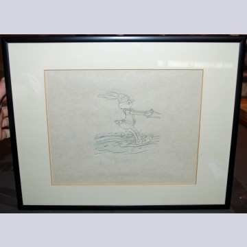 Original Production Drawing From 1970s TV Commercial Featuring Bugs Bunny