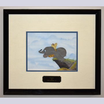 Original Walt Disney Production Cel on a Custom Background from Dumbo