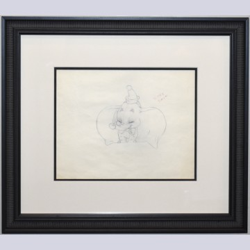 Original Production Drawing from Dumbo featuring Dumbo