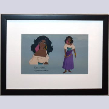 Original Walt Disney CAPS color model markups from The Hunchback of Notre Dame featuring Esmeralda