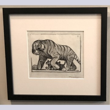 Original Walt Disney Storyboard Drawing from Dumbo featuring Tigers