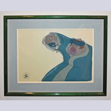 Original Walt Disney Production Cel from Mickey's Christmas Carol featuring Willie the Giant and Scrooge McDuck