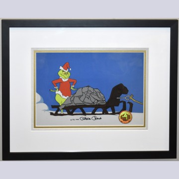 Original Signed Chuck Jones How the Grinch Stole Christmas Production Cel of The Grinch