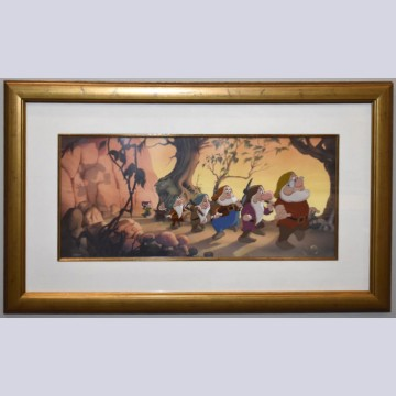 Walt Disney Snow White and the Seven Dwarfs Animation Limited Edition Cel, Heigh Ho