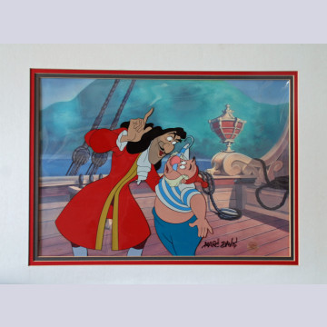 "Disney Animation Art Limited Edition Cel Featuring Hook and Smee from ""Disney Villains Volume I,"" Signed by Marc Davis"