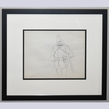 Original Walt Disney Production Drawing from Snow White and the Seven Dwarfs Featuring The Huntsman