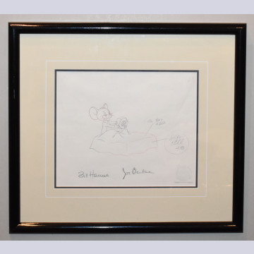 Hanna Barbera Production Drawing of Jerry from Mouse for Sale (1955), Signed by Hanna and Barbera