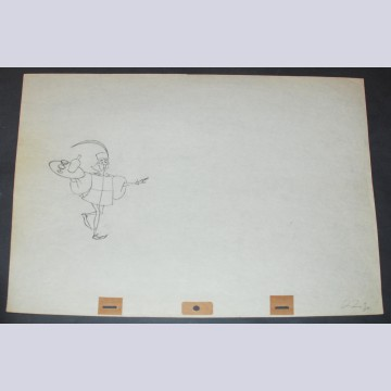 Original Walt Disney Production Drawing from Sleeping Beauty featuring the Lackey