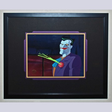"""Original WB Production Cel from Batman: The Feature """"Mask of the Phantasm"""" featuring the Joker"""