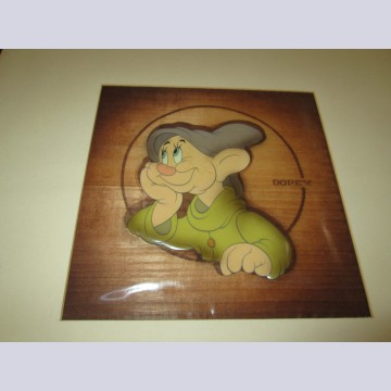 Walt Disney Production Cel on Courvoisier Background featuring Dopey