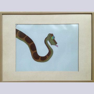 Original Walt Disney Production Cel from The Jungle Book featuring Kaa