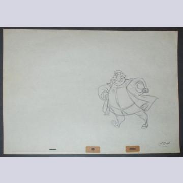 Original Walt Disney Production Drawing from Sleeping Beauty featuring King Hubert