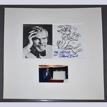 Signed photo by Chuck Jones with photo at the Press Club in the 1990's