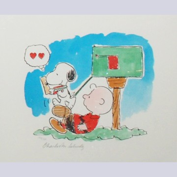 "Peanuts Animation Art Limited Edition Lithograph ""Love Letters"""