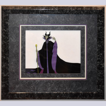 Original Walt Disney Production Cel From Sleeping Beauty featuring Maleficent