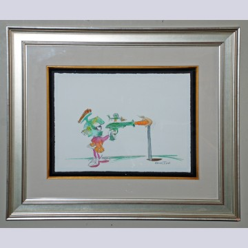 Original Chuck Jones Water Color, Marvin the Martian