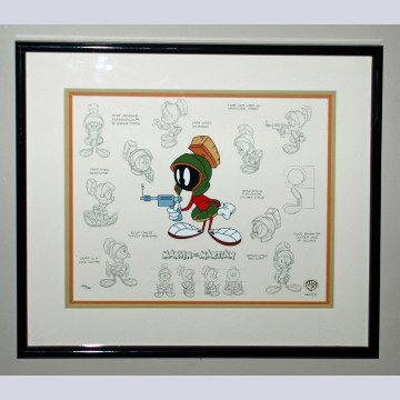 Original Warner Brothers Limited Edition Model Sheet, Marvin the Martian