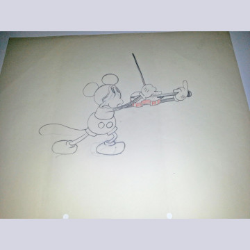 Original Walt Disney Production Drawing featuring Mickey Mouse