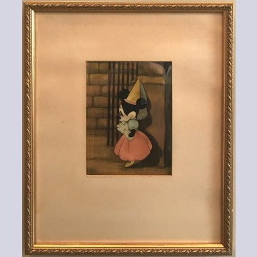 Original Walt Disney Production Cel of Minnie Mouse from Brave Little Tailor (1938)