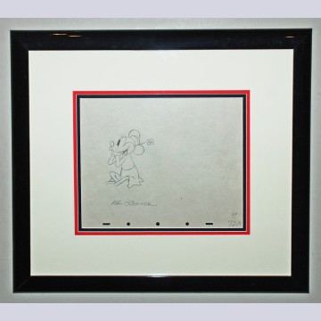 Original Walt Disney Production Drawing featuring Minnie Mouse signed by Ken O'Connor
