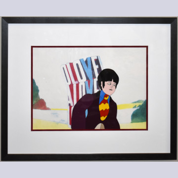 Original Beatles Production Cel From Yellow Submarine featuring Paul