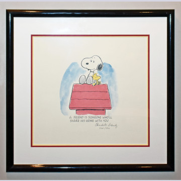 "Peanuts Animation Art Limited Edition Lithograph ""Sharing is..."""