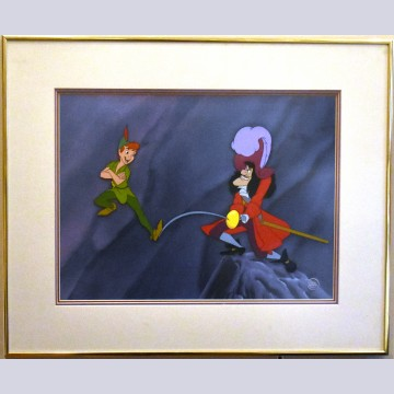 Original Walt Disney Peter Pan Limited Edition Cel, Skull Rock